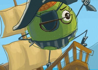 """You Mean Like A Pirate - Closeup"" Illustration"