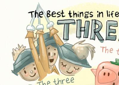 """""""Three Musketeers"""" Illustration"""